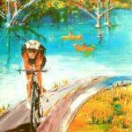 Historic Folsom Amgen Tour 2014 (poster) janeensoilworks Janeen Meyer-Johanson
